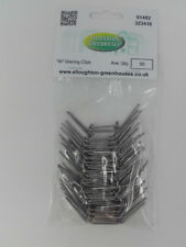 "Two Packs x 50 Thick Stainless Steel ""W"" Wire Elite Greenhouse Glazing Clips"