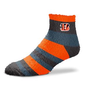 Cincinnati Bengals Football Women's Rainbow Stripe Soft Fuzzy Socks