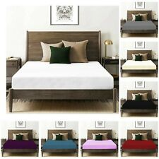 100% Egyptian Cotton 200 Thread Count Fitted Sheet Single Double Super King Size