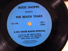 THE BEACH BOYS Rock Shoppe THE BEACH YEARS Six Hour Radio Special DEMO NM!