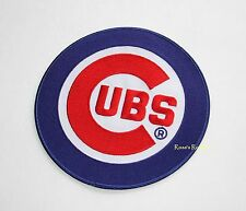 """CHICAGO CUBS """"C""""  OFFICIAL MLB JERSEY PATCH - 6 3/4"""""""