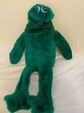 """Large Vintage Puppets that Swallow green plush frog puppet 25"""" HTF RARE"""