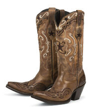 Brand new BROWN & RED w/ inlays womens ladies cowboy boots - sale! Size 8.5