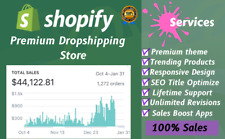 I Will Professionally Build 7-Figure Shopify Dropshipping Store 100% Ready