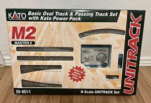 Kato M2 20-851-1 Unitrack Master 2 Basic Oval & Passing Track Sets w/ Power Pack