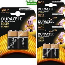 4 X Duracell 9v Pp3 Plus Power Batteries Smoke Alarms (lr22 Mn1604 6lr61)