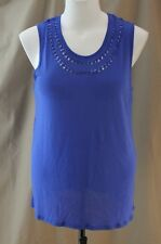 I Jeans by Buffalo, XL, Palace Blue Sleeveless Knit Top, New with Tags