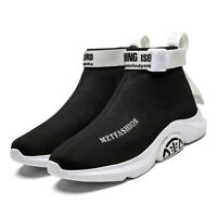 Men's Sneakers Athletic Fashion Running Casual Sports Shoes Sock-Like Youth
