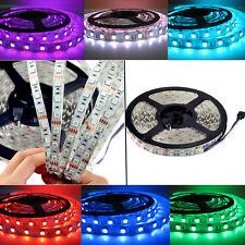 5M RGB 5050 SMD Led Light Strips Flexible Xmas LEDS Home/Shop Car Lighting DC12V