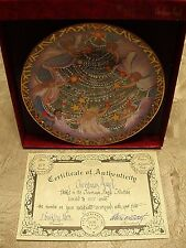 """P Buckley Moss Christmas Plates """"Christmas Angels"""" Signed/Number 379/5000 NEW"""