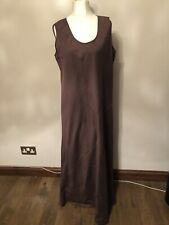 Jaeger - Elegant Sleeveless Chocolate Dress - Size 18