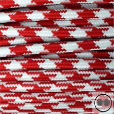 Textilkabel, Stoffkabel, Stern Rot Weis 2 adrig 2 x 0,75 mm² rund (Meterware)