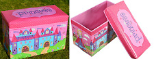 Children's Bedroom Furniture Toy Chest Storage Box Girls Padded Playroom Chest