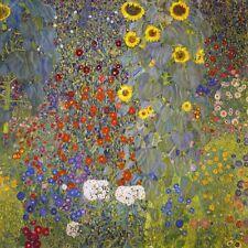 "Gustav Klimt, ""Farm Garden With Sunflowers"",  giclee open edition print"