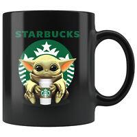 Starbucks Baby Yoda Star Wars Cute Yoda STARBUCKS Fun Black Coffee Mug Gift