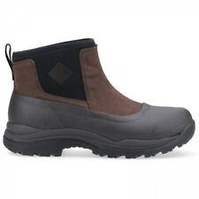 Muck Boots ARCTIC OUTPOST Mens Waterproof Leather Pull On Wellington Boots Brown