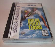 Break Point Tennis (Sega Saturn, 1996) Complete CIB Very Good Shape HTF Game