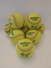 """Dudley Asa Thunder Synthetic Soft Ball Yellow 12"""" - Lot of 8 4A-069Y"""