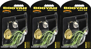 (LOT OF 3) BOOYAH COVERT SPINNERBAIT BYCVS38NGC726 3/8OZ JC SPECIAL BO8406