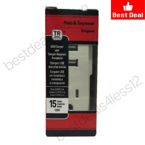(New) Pass & Seymour TM8-USBLACC6 USB Charger Tamper-Resistant Receptacle