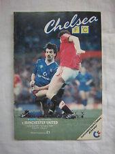 Orig.PRG   England  1.Division  1987/88   CHELSEA FC - MANCHESTER UNITED FC  !!