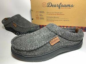 DEARFOAMS Men's High Density Memory Foam Cushioning In/Our Door Slippers ~ Sizes