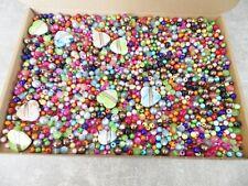 JOB LOT: 600g Lucky Dip Mixed Colours & Sizes of Acrylic Beads SET B