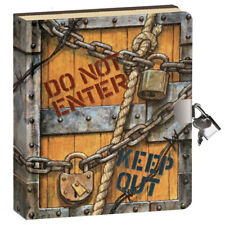 Keep out Journal - Kid's Lockable Diary with Padlock for Boys & Girls