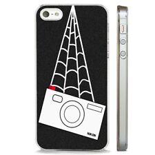 Spiderman Peter Parker Cámara Nikon claro caso cubierta teléfono se adapta iPhone 5 6 7 8 X