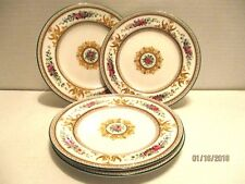 4 Wedgwood Columbia White Porcelain Bread Butter Plate Medallion Griffons Floral