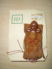Souvenir Papoose Doll With Mailing Card Hand Made by Cherokee Indians