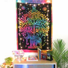 Elephant Tree of Life Table Art Cloth Yoga Mat Poster Wall Hanging Tapestry Hipy