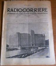 RADIOCORRIERE EIAR 1932 N° 2 - PUBBLICITA' RADIO ATWATER KENT E PHONOLA     6/17