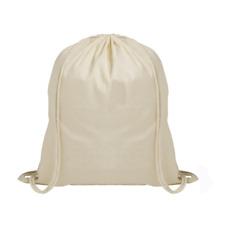 b721639145 100 Cotton Plain Drawstring Bag Kids Sport PE Gym Laundry Storage Rucksack  Natural