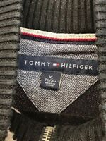 Tommy Hilfiger Mens Sweater Black Size XL Flag Vintage