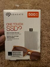 Seagate - One Touch SSD 500GB External USB 3.0 Portable SSD-WHITE **NEW SEALED**