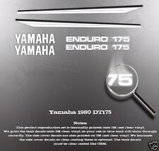 YAMAHA 1980 DT175 DECAL GRAPHIC KIT LIKE NOS