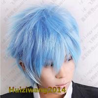 Kuroko's Basketball Kuroko Tetsuya Ice Blue Cosplay Short Wig Free shipping+Gift