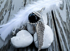 Final Fantasy 7 Sephiroth Necklace Black Materia Pendant One Winged Angel Gift
