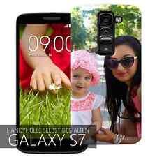3D Samsung Galaxy S7 Hülle selbst gestalten Case Cover Schutz Schale Etui Foto