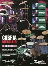 2004 Print Ad of Premier Cabria Metallic Drum Kit