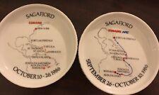 "2 1986 Rosenthal Germany 4"" D Cunard Lines Ash Trays"