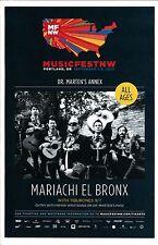MARIACHI EL BRONX 2013 Gig POSTER MFNW Portland Oregon Musicfest NW Concert