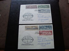 ALLEMAGNE RDA 2 lettres 24/8/71  - timbre stamp germany (cy1)