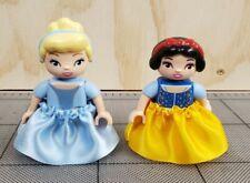Lego Duplo Lot 2 Figure Disney Princess Girl Snow White & Cinderella