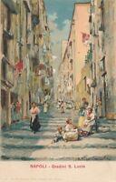 NAPOLI – Gradini S. Lucia – Naples – Italy – udb (pre 1908)