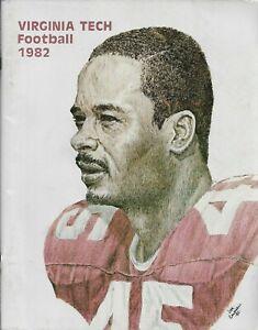 1982 VIRGINIA TECH HOKIES FOOTBALL media guide, Tony Paige, EXCELLENT, ORIGINAL