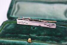 Vintage Sterling Silver tie clip with an Art Deco design #Y99