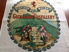 Vintage Unused Highland Malt Whisky Glen Grant Distillery Tea Towel Linen