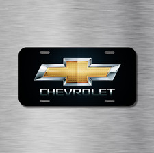 Chevy chevrolet Bow Tie Vehicle License Plate Front Auto Tag Silverado NEW